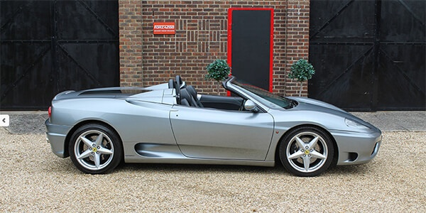 Forza 288: Ferrari 360 Manual Spyder