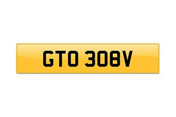 Number plate – GT0 308V