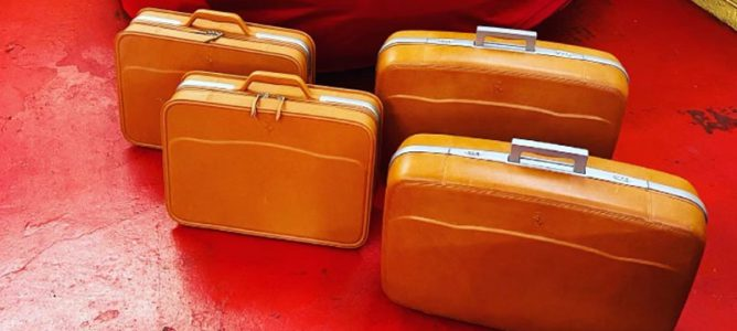 Schedoni 5 Piece Leather Luggage